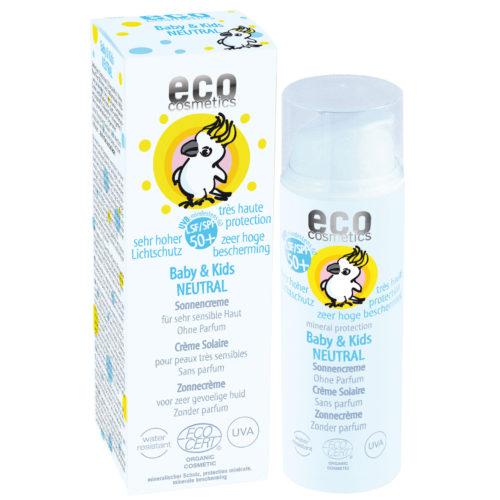 Eco cosmetics zonnecrème SPF50+ Baby&Kids neutraal