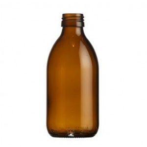 Fles glas bruin DIN 28