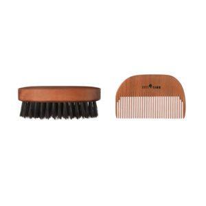Kost Kamm houten baardborstel en -kam